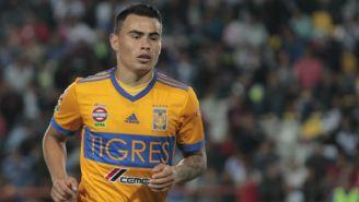 Lucas Zelarayán en un partido con Tigres