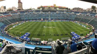 Imagen panorámica del Estadio Azul previo al duelo entre La Máquina y Rayados