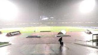 La fuerte lluvia se hizo presente en el Olímpico Universitario