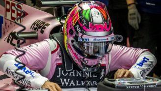 Sergio Pérez, durante el circuito de F1 en Monza