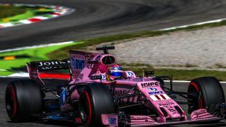 Checo recorre el circuito de Monza