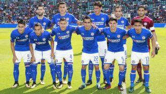 Cruz Azul  antes del partido contra Atlas