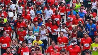 Los corredores que participaron en la edición 2017 del Maratón de la CDMX