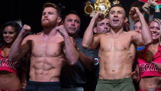 Canelo y Golovkin, tras la ceremonia de pesaje en Las Vegas
