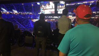 La vista que Fernando tenía de la  T-Mobile Arena