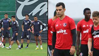 Imagenes de los jugadores de Chivas y Atlas en los entrenamientos de este 20 de septiembre
