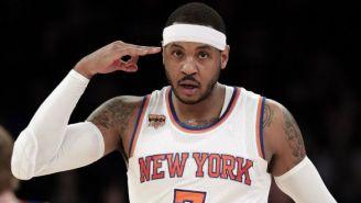 Carmelo Anthony en uhn juego de New York Knicks