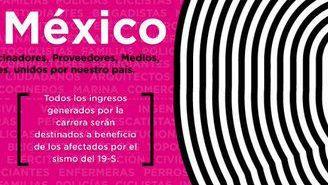 Cartel promocional de la carrera 'Corro X México'