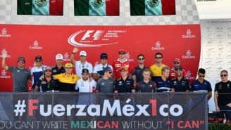 Pilotos de Fórmula Uno envían mensaje de apoyo a México