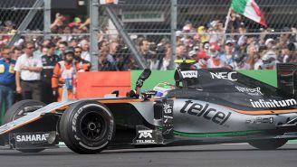 Checo Pérez durante el GP de México de 2016