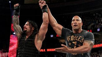Roman Reigns y The Rock en Royal Rumble 2015
