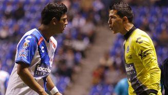 Villaseñor y Venegas durante el partido