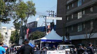 Operativo de seguridad a las afueras del Estadio Azul