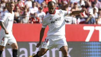 Guido Pizarro, en el juego entre Sevilla y Málaga
