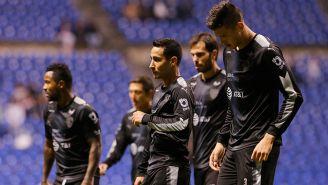 Jugadores de Monterrey en lamento tras el encuentro