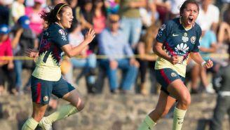 América festeja gol de Dorian Hernández contra Pumas