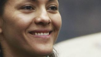 María del Rosario Espinoza en conferencia de prensa