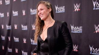 Ronda Rousey en la alfombra roja del Mae Young Classic
