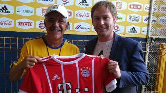 Tuca Ferretti junto a Gerald Fiedler, director de Bayern México