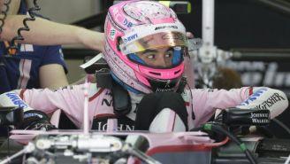 Esteban Oco, previo a una carrera con Force India
