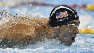 Michael Phelps, durante una prueba en Juegos Olímpicos