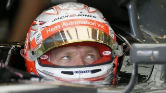 Magussen, durante una práctica previo al GP de México