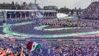 Aficionados disfrutan del Gran Premio de México