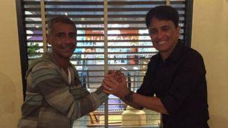 Romario y Bebeto, posan para una foto compartida en redes sociales
