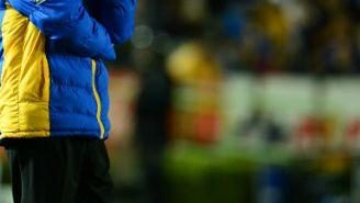 Tuca Ferretti en un juego de Tigres en el Volcán
