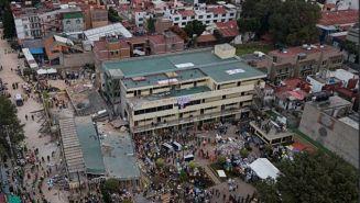 Colegio Enrique Rébsamen tras sismo