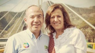 Felipe Calderón y Margarita Zavala en el puente Baluarte