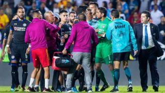 Hernández le reclama a Corona tras el final del partido