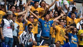 Afición de Tigres en el Estadio BBVA Bancomer