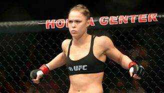 Ronda Rousey, durante una pelea de MMA