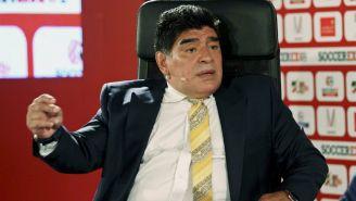 Diego Armando Maradona durante una entrevista