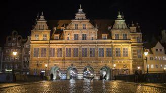Paisaje nocturno en  Gdansk