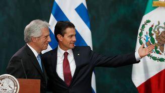 EPN y Tabaré Vázquez en el evento