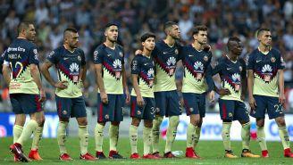 Jugadores del América durante la tanda de penaltis
