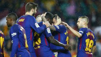 El Barcelona celebra una anotación