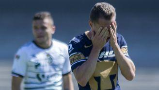 Abraham González se lamenta después de partido vs Santos