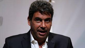 Elías Ayub, durante la conferencia del XXXV Maratón de la CDMX Telcel 2017