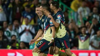 Guido Rodríguez celebra gol con América en la J17