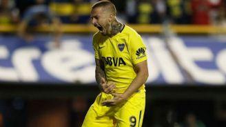 Benedetto celebra una anotación con Boca Jrs