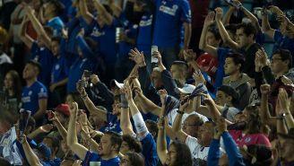 La nación celeste festeja el gol con el que vencieron a Veracruz