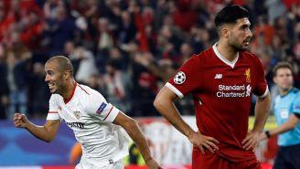 Guido Pizarro celebra su gol contra Liverpool