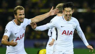 Harry Kane y Heung-Min Son celebran triunfo frente a Dortmund
