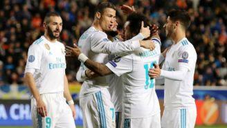 Real Madrid festeja triunfo indiscutible frente al APOEL