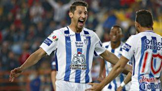 Omar González festeja gol contra Atlante en Semis de Copa MX