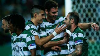 Sporting celebra triunfo frente al Olympiacos