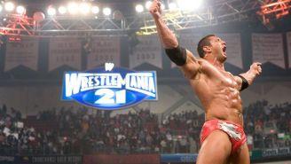 Batista festeja previo a Wrestlemania 21